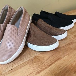 Three Pairs of slip on sneakers size 7.5